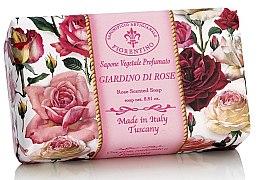 "Парфюми, Парфюмерия, козметика Натурален сапун ""Розова градина"" - Saponificio Artigianale Fiorentino Rose Garden Scented Soap"