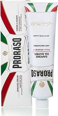 Крем за бръснене за чувствителна кожа - Proraso White Shaving Cream — снимка N2