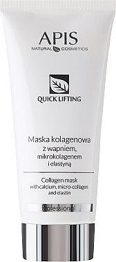 Колагенова маска за лице с калций, микроколаген и еластин - APIS Professional Quick Lifting Mask