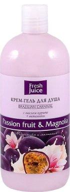 Душ гел-крем с екстракт от маракуя и магнолия - Fresh Juice Brazilian Carnival Passion Fruit & Magnolia — снимка N2