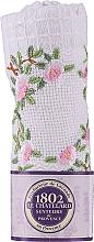 Парфюмерия и Козметика Памучна кърпа за ръце с бродирани рози - Le Chatelard 1802