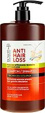 Парфюмерия и Козметика Шампоан за изтощена и склонна към косопад коса (с дозатор) - Dr. Sante Anti Hair Loss Shampoo