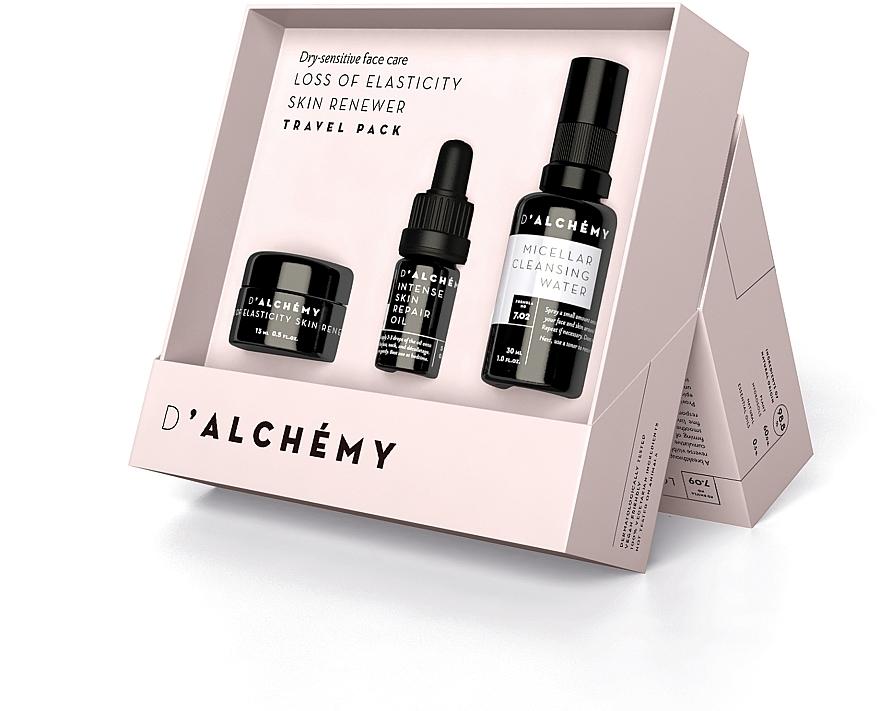 Комплект за лице - D'Alchemy Loss of Elasticity Skin Renewer Travel Pack (f/cr/15ml + f/oil/5ml + mic/water/30ml) — снимка N1