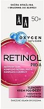 Парфюмерия и Козметика Кислороден крем за околоочния контур 50+ - AA Oxygen Infusion Retinol Pro-A Eye Cream