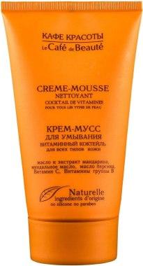 """Измиващ крем-мус за лице """"Витаминен коктейл"""" за всеки тип кожа - Le Cafe de Beaute Vitamin Cream-Mousse — снимка N2"""