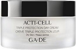 Парфюми, Парфюмерия, козметика Дневен крем с тройна защита за суха кожа - Ga-De Acti-Cell Triple Protection Day Cream Dry Skin