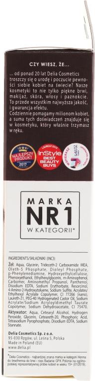 Гел-боя за вежди, тъмно кафява - Delia Eyebrow Tint Gel ProColor 3.0 Dark Brown — снимка N2