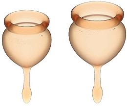 Парфюмерия и Козметика Комплект менструални чашки, оранжеви - Satisfyer Feel Good Menstrual Cup Orange