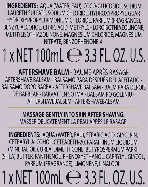 Комплект за мъже - Baylis & Harding Men's Citrus Lime & Mint Bag(hair/body/wash/100ml+face/wash/100ml+a/sh/balm/100ml+acc) — снимка N2