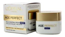 Парфюми, Парфюмерия, козметика Нощен подхранващ крем - L'Oreal Paris Age Perfect ReHydrating Night Cream