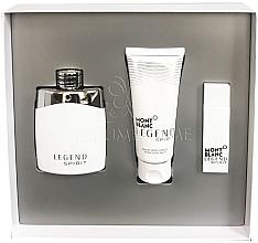 Парфюми, Парфюмерия, козметика MontBlanc Legend Spirit Set - Комплект (тоал. вода/100ml + тоал. вода/mini/15ml + афтършейв балсам/100ml)