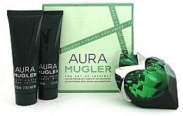 Парфюмерия и Козметика Mugler Aura Mugler - Комплект (парф. вода/50ml + лосион за тяло/50ml + душ гел/50ml)