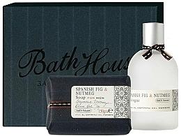 Парфюмерия и Козметика Bath House Spanish Fig and Nutmeg - Комплект за мъже (одеколон/100ml + сапун/150g)