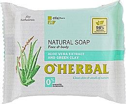 Парфюмерия и Козметика Натурален сапун с екстракт от алое вера и зелена глина - O'Herbal Natural Soap
