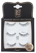 "Парфюми, Парфюмерия, козметика Комплект изкуствени мигли ""Sara"" - Sosu by SJ Makeup Artist Multipack Eyelashes"