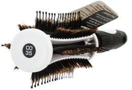 Брашинг четка за коса 35 mm - Olivia Garden Thermo Active Ionic Boar Combo Brush 35 — снимка N2