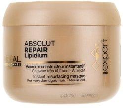 Маска за възстановяване на увредена коса - L'Oreal Professionnel Absolut Repair Lipidium Instant Reconstructing Masque — снимка N3