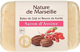 Парфюмерия и Козметика Овесен сапун с аромат на годжи бери и масло от шеа - Nature de Marseille Soap