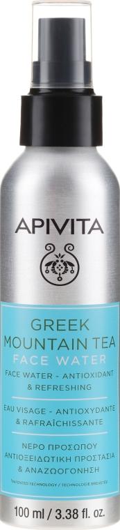 Антиоксидантна и освежаваща вода за лице с горски чай - Apivita Greek Mountain Tea Face Water — снимка N1