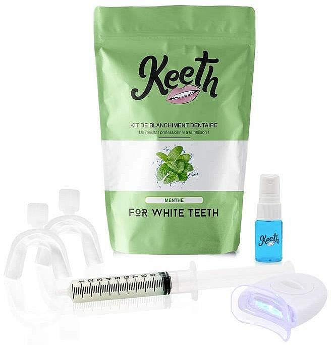 """Комплект за избелване на зъби """"Мента"""" - Keeth Mint Teeth Whitening Kit"""