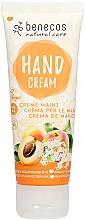 Парфюмерия и Козметика Крем за ръце с кайсия и цвят от бъз - Benecos Natural Care Apricot & Elderflower Hand And Nail Cream
