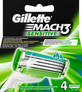 Ножчета за бръснене - Gillette Mach3 Sensitive — снимка N1