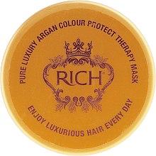 Парфюмерия и Козметика Маска за запазване на цвета на боядисана коса - Rich Pure Luxury Argan Colour Protect Mask