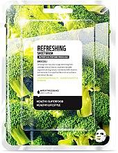 """Парфюми, Парфюмерия, козметика Памучна маска за лице """"Броколи"""" - Superfood For Skin Refreshing Sheet Mask"""