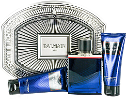 Парфюми, Парфюмерия, козметика Balmain Balmain Homme - Комплект (edt/100ml + ash/balm/100ml + sh/gel/100ml)