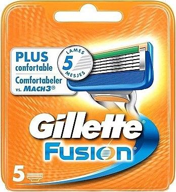 Сменяеми ножчета за бръснене, 5 бр. - Gillette Fusion — снимка N1
