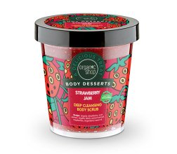Парфюми, Парфюмерия, козметика Детоксикиращ скраб за тяло - Organic Shop Body Desserts Strawberry Jam