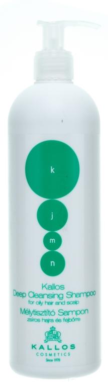 Почистващ шампоан за мазна коса и скалп - Kallos Cosmetics Deep Cleansing Shampoo