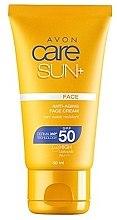 Парфюми, Парфюмерия, козметика Слънцезащитен крем за лице SPF50 - Avon Care Sun+ Anti-Aging Face Cream