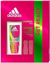 Парфюми, Парфюмерия, козметика Adidas Get Ready! For Her - Комплект (део спрей/75ml + душ гел/250ml)