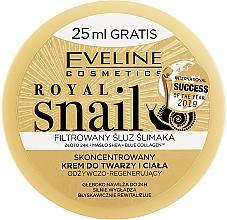 Парфюмерия и Козметика Крем за лице и тяло с екстракт от охлюв - Eveline Royal Snail