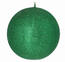 Парфюмерия и Козметика Декоративна свещ, топка, зелена, 8 см - Artman Glamour