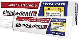 Парфюмерия и Козметика Фиксиращ крем за зъбни протези - Blend-A-Dent Super Adhesive Cream Original Complete (12x47g)