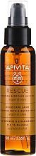 Парфюмерия и Козметика Възстановяващо и подхранващо масло за коса с арган и маслина - Apivita Rescue Hair Oil With Argan Oil & Olive
