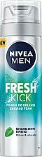 Парфюмерия и Козметика Пяна за бръснене - Nivea For Men Fresh Kick Shaving Foam