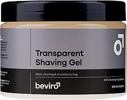 Парфюмерия и Козметика Гел за бръснене - Beviro Transparent Shaving Gel