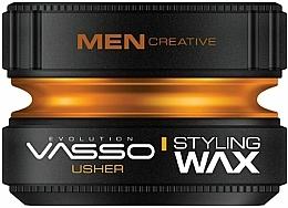 Парфюмерия и Козметика Моделиращ восък за коса - Vasso Professional Hair Styling Wax Usher