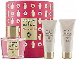 Парфюмерия и Козметика Acqua di Parma Peonia Nobile Set - Комплект (парф. вода/100ml + душ гел/75ml + крем за тяло/75ml)