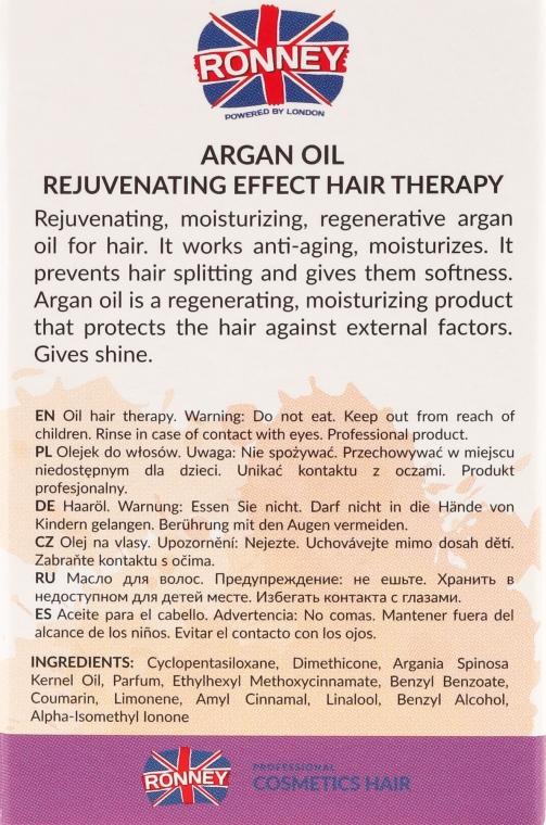 Масло за изтощена коса - Ronney Argan Oil Rejuvenating Hair Therapy — снимка N3