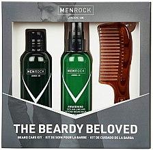 Парфюмерия и Козметика Комплект грижа за брада - Men Rock Awakening Beardy Beloved Sicilian Lime Starter Kit (сапун/100ml + балсам/100ml + гребен/1бр)