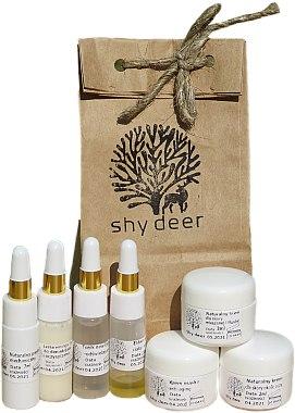 Комплект за мазна и комбинирана кожа - Shy Deer (емулсия/7ml + пилинг/7ml + тоник/7ml + еликсир/1.5ml + околоочен крем/2ml + крем/3ml + крем/3ml) — снимка N1