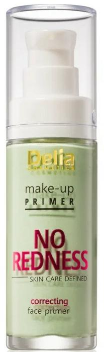 Основа за грим, коригираща зачервявания - Delia Cosmetics No Redness Make Up Primer