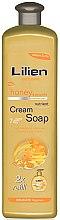 """Течен сапун """"Мед и прополис"""" - Lilien Honey & Propolis Cream Soap — снимка N2"""