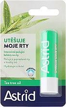 Парфюмерия и Козметика Балсам за устни - Astrid Intensive Care Lip Balm And Tea Tree