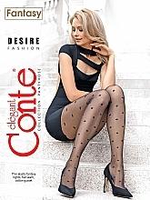 "Парфюмерия и Козметика Дамски чорапогащник ""Fantasy Desire"" 20 Den, nero - Conte"