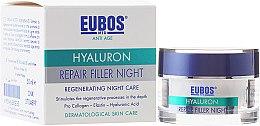 Парфюмерия и Козметика Нощен крем за лице - Eubos Med Anti Age Hyaluron Repair Filler Night Cream